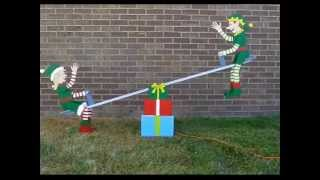 Christmas Teeter Totter Elves - By The Winfield Collection