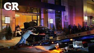 Choca auto contra Trump Plaza en NY