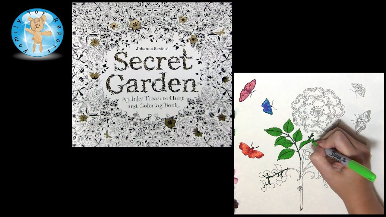 Secret Garden By Johanna Basford Adult Coloring Book Rose Butterflies