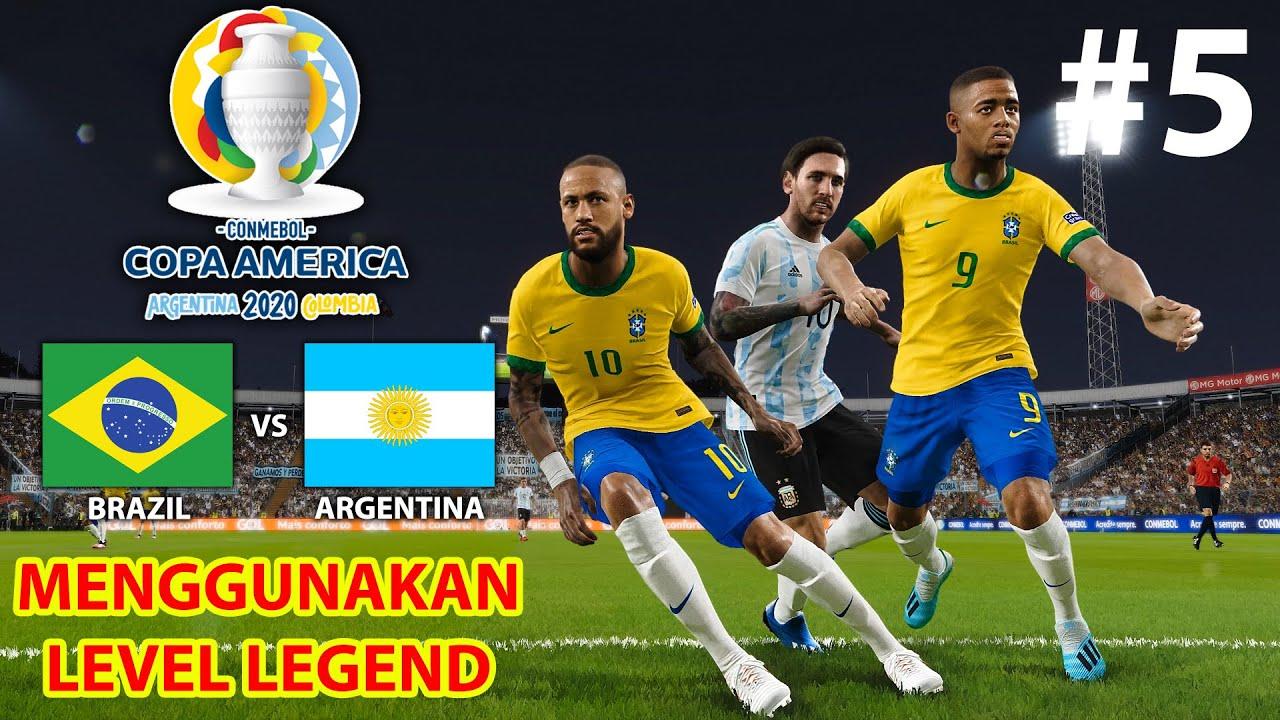 SEMI FINAL COPA AMERICA! BRAZIL TERLALU KUAT DAN MESSI LAKUKAN TEMBAKAN YANG PALING MUSTAHIL! (5)