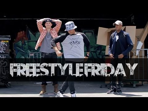 Guys Take Over Alley For Epic Dance Battle | #FreestyleFriday (Robert Hoffman, BeatsMurder, Friidom)