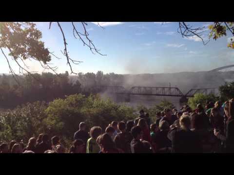Amelia Earhart Bridge Implosion Atchison, Kansas