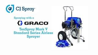 Spray testing Carboline Thermo-Sorb VOC using a Graco TexSpray Mark V with CJ Spray