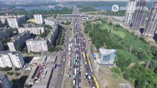 Пробка Киев Московский мост 29 августа 2016(, 2016-08-29T14:08:43.000Z)