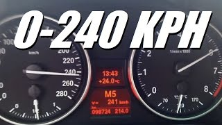 BMW N54 335i DS Sport VS Manual Mode / Top Speed 240 km/h (150 MPH)