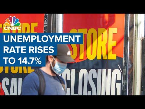 Historic job losses, and stocks rally