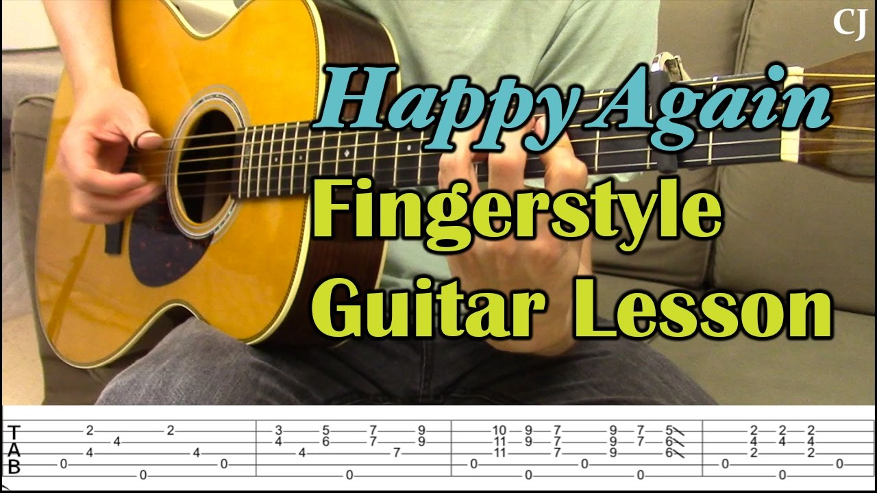 happy again chet atkins with tab watch and learn fingerstyle guitar lesson youtube. Black Bedroom Furniture Sets. Home Design Ideas