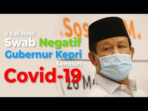 2 Kali Hasil Swab Negatif, Gubernur Kepri Sembuh Covid 19