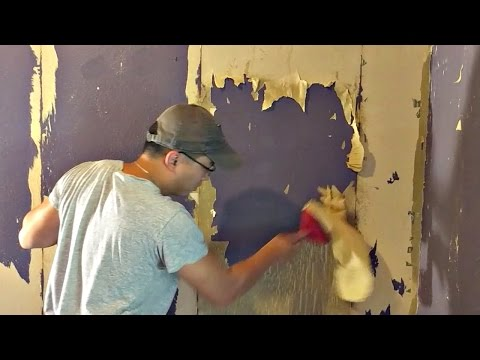 How to clean wallpaper glue off plaster walls