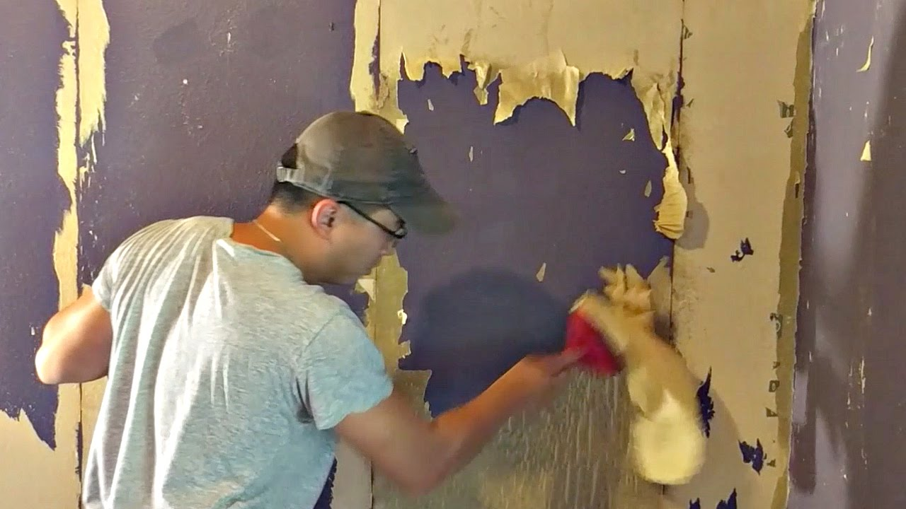 How to Remove Wallpaper Glue - YouTube