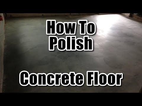 How To Polish Concrete Floor