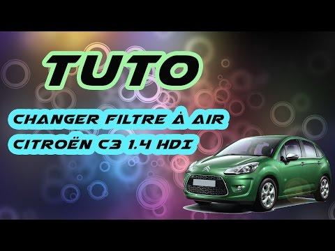 TUTO changer filtre à air Citroën C3 1.4  HDI (how to change C3's air filter) HD