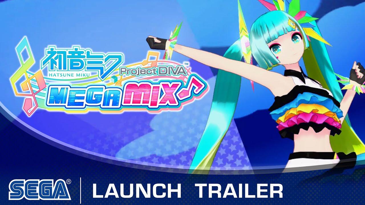 Hatsune Miku Project Diva Mega Mix Launch Trailer Youtube