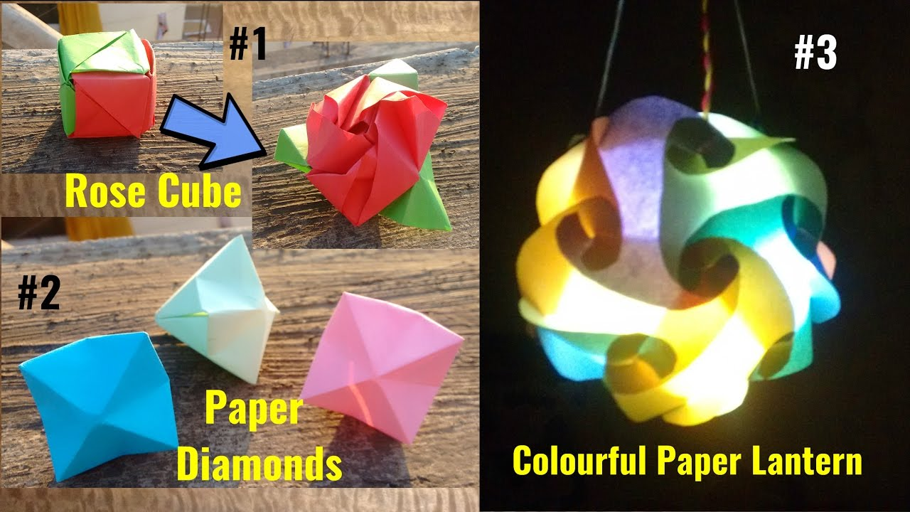 Best Of Origami 1 Magic Rose Cube Colorful Lantern Paper