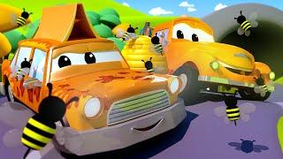 Такси Джереми - Автомойка Эвакуатора Тома в Автомобильный Город 💧 детский мультфильм