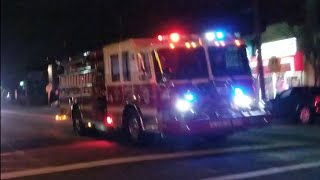 Wood-ridge NJ Engine 901 / Truck 904 Responding Fire Department 1-22-19