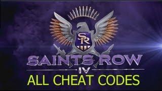 Saints Row 4 CHEAT CODE LIST