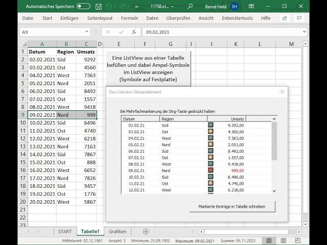 220: Excel-VBA: Wie binde ich Ampel-Symbole im ListView ein und woher kommen diese?