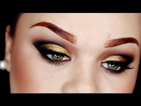 Black & Gold Cut Crease ♡ New Years Collab w/ MakeupbyGio