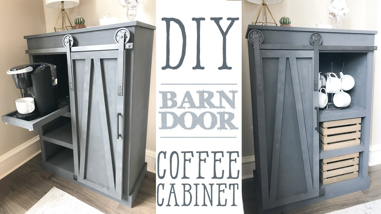 ... Diy Barn Door Coffee Cabinet ...