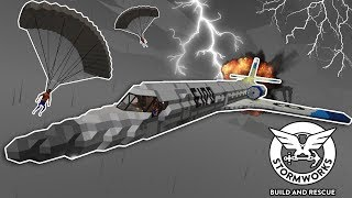 SUPERSONIC PLANE GETS LOST AT SEA! - Stormworks Multiplayer Gameplay - Plane Crash Survival