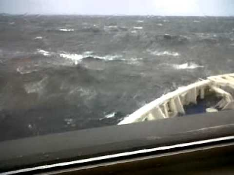 "Newfoundland  ferry in massive waves  ""MUST SEE"""