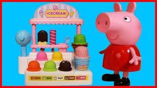 粉紅豬小妹和冰淇淋商店及收銀機玩具