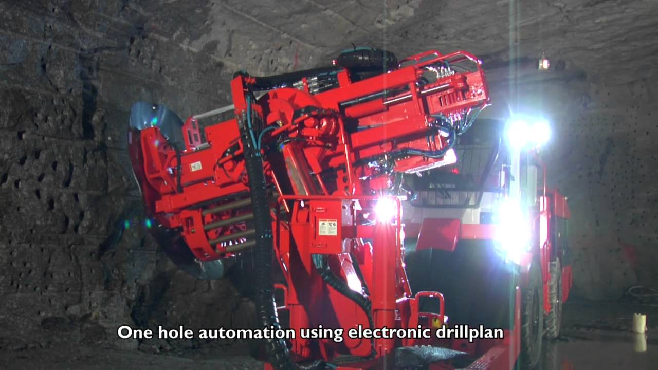 Sandvik Production Drill Automation Youtube