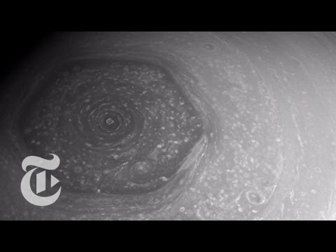 The Huge Hexagon-Shaped Storm on Saturn | Out There | The New York Times