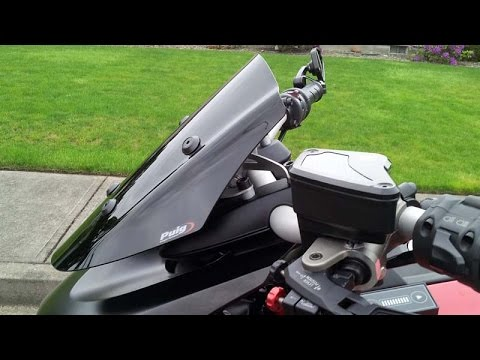 puig adjustable sport street screen for project diavel ducati