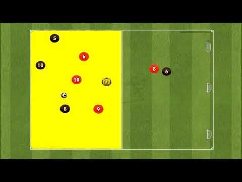 Support Play -  3 vs 3 plus 1 into 4 vs 4 plus 1