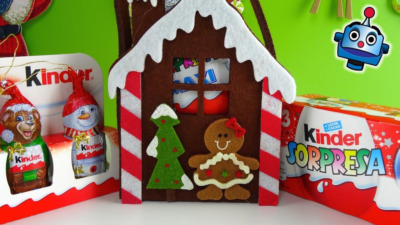 Huevos kinder sorpresa navidad y chocolatinas para decorar - Arbol de navidad decorado ...
