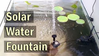 Solar Water Fountain Pump Kit for Outdoor Ponds, Patio and Aquariums - Review