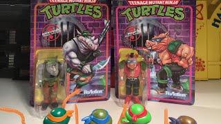 Super7 TMNT Beebop & Rocksteady ReAction Figures !!!