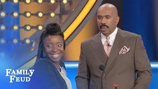 Baby, I wish your WHAT was like Steve Harvey's... | Family Feud