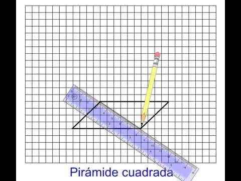 Trazado De Una Pirámide De Base Cuadrada