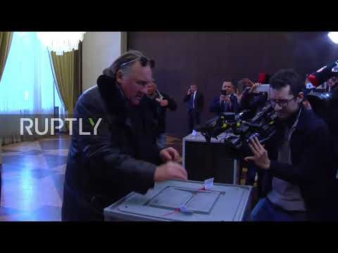 France: Gerard Depardieu casts vote in Russian presidential elections