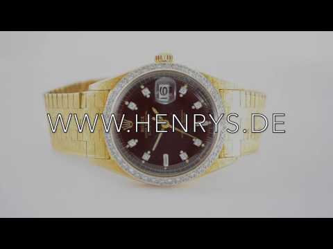 Rolex rare 18k gold Oyster Perpetual Date 1602/1601