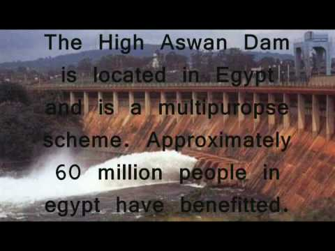 The Aswan Dam in Egypt