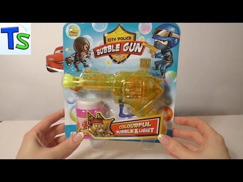 Распаковка игрушки для мыльных пузырей.Пистолет для мыльных пузырей.