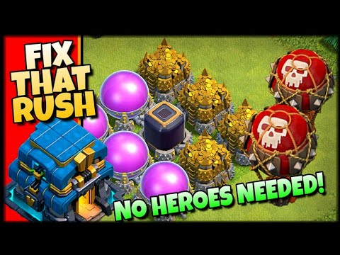 Clash Of Clans - How To Fix A Rushed Base! - TH12 Rushed Farming Strategy!