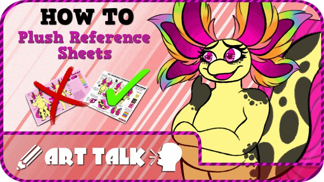 plush ref sheets how to art talk youtube
