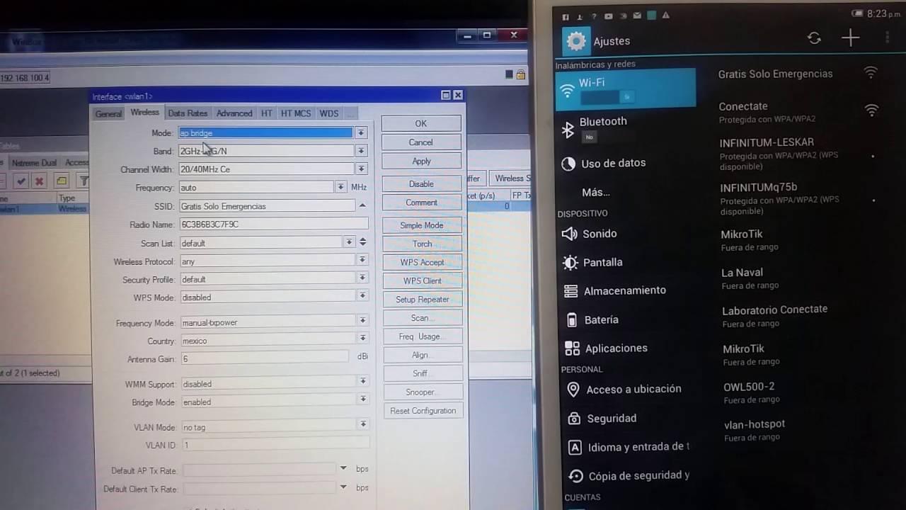 Conexión WPS Mikrotik