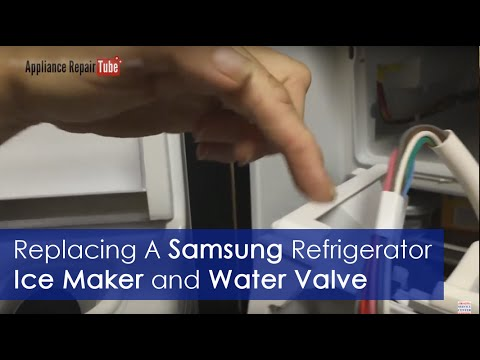 How To Replace Samsung Refrigerator Ice Maker And Water Valve Diy