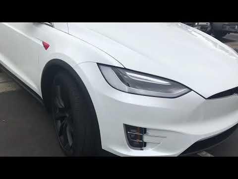 2017 Tesla Model X with SunTek Ultra Paint Protection, Nano-Ceramic window Film, Red Vinyl Accents