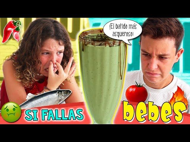 ¡¡SI FALLAS BEBES!! 🤮 SMOTHIE CHALLENGE 🥤 Reto del BATIDO ASQUEROSO 😱