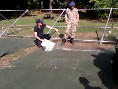 How to Fold a Canadian Forces Mod Tent Tarp (Center Section)