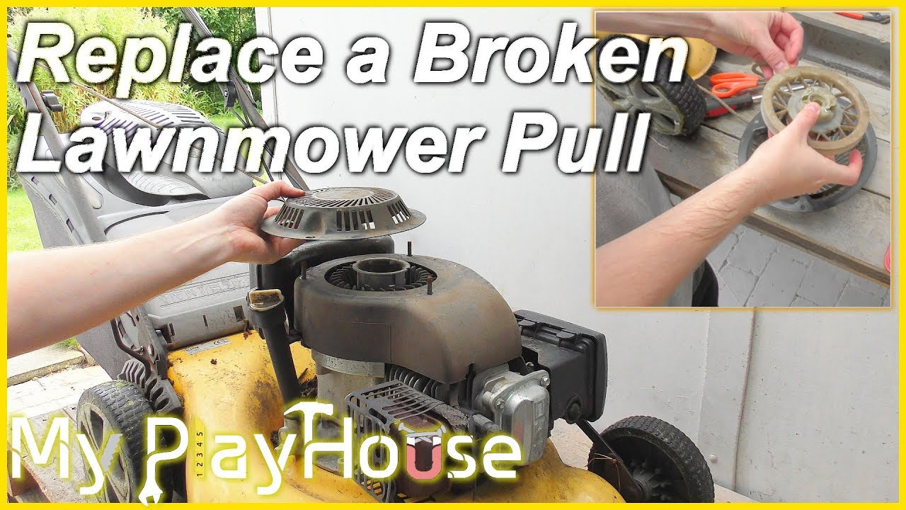 How To Repair The Pull Cord On A Lawnmower 554 Youtube