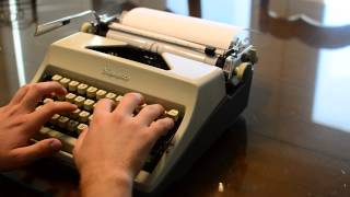 Typing Sample for Olympia Deluxe SM-8