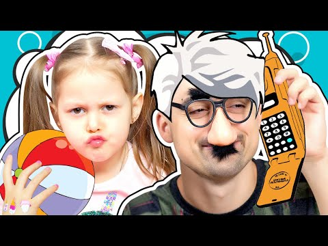 Amelka has a STRANGE GRANDPA! Grandpa came to visit us! Does he play My Little Pony? Kids Video